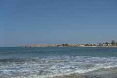 Coast of Cyprus island royalty free stock photo