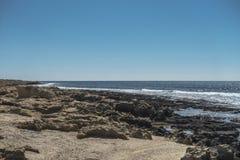 Coast of Cyprus island stock image