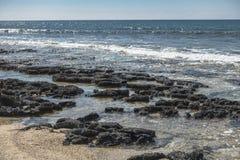 Coast of Cyprus island stock images