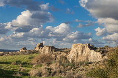 The coast of Cyprus near the ancient city of Curio, Limassol s. The coast of Cyprus near the ancient city of Curio, Limassol - ancient excavations of Roman ruins Stock Photo