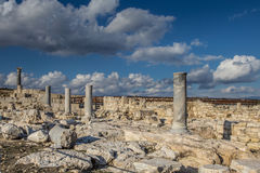 The coast of Cyprus near the ancient city of Curio, Limassol s. The coast of Cyprus near the ancient city of Curio, Limassol - ancient excavations of Roman ruins Stock Image