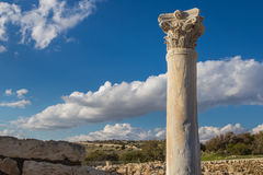 The coast of Cyprus near the ancient city of Curio, Limassoluins. The coast of Cyprus near the ancient city of Curio, Limassol - ancient excavations of Roman Royalty Free Stock Photo