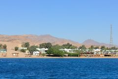 Dahab. Egypt. The coast of Dahab. Red sea. Egypt. A popular place for diving and surfing Royalty Free Stock Image