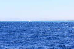Coast of the Red Sea in Dahab. The coast of Dahab. Red sea. Egypt. A popular place for diving and surfing Stock Photo