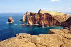 coast de Σάο ponta της Μαδέρας loure east νησιών Στοκ εικόνα με δικαίωμα ελεύθερης χρήσης
