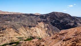 Coast of the Dead Sea. Beautiful landscape of Jordan mountains Stock Photo