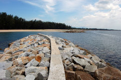 Coast defences at Thailand Royalty Free Stock Images