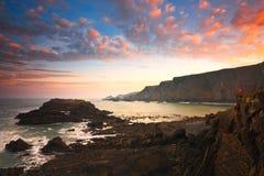Coast of Devon, UK. Seascape taken in Hartland Quay, Devon, UK stock photography