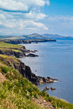Coast at Dingle Peninsula. Summer landscape on the coast of Dingle Peninsula, County Kerry, Ireland Stock Photography
