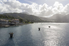 Coast of Dominica stock image