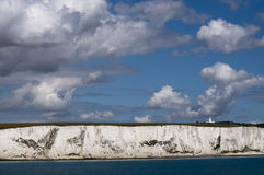 Coast of Dover with lighthouse Stock Image