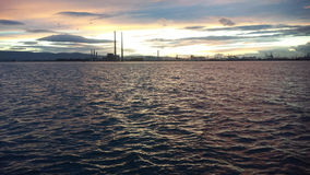 Coast of Dublin. Sun setting on the coast of Dublin, Ireland Stock Image