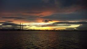 Coast of Dublin. Sun setting on the coast of Dublin, Ireland Royalty Free Stock Photos