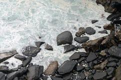 Coast. Dusk in the rocky coast. Cantabrian Sea, Spain Royalty Free Stock Photos
