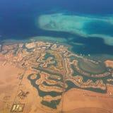 Coast in Egypt stock photography