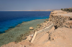 Coast in Egypt. Red Sea Royalty Free Stock Photo