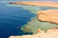 blue hole on the coast of Egypt Stock Photo