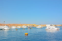 Yachts Coast Sharm-El-Shaikh of Egypt  Royalty Free Stock Photo