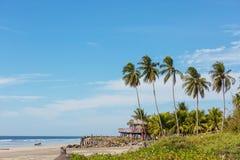 Coast in El Salvador. View of a small beach in El Salvador, Pacific Coast stock photos