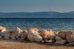Coast in Eretria, Greece Royalty Free Stock Images