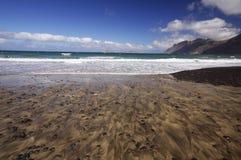 Coast of Famara, Lanzarote Royalty Free Stock Image