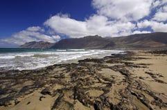 Coast of Famara, Lanzarote Stock Images