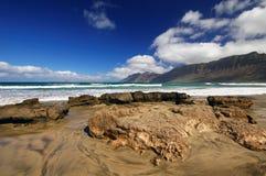 Coast of Famara, Lanzarote Royalty Free Stock Photography