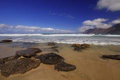 Coast of Famara, Lanzarote Stock Image