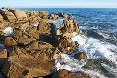 Goudoul rock s in Finistere coast Royalty Free Stock Photography