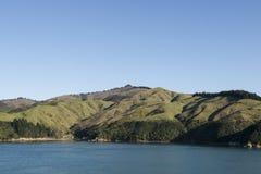 Coast with fjords, New Zealand Stock Photos