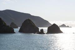 Coast with fjords, New Zealand Royalty Free Stock Image
