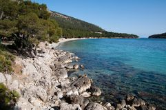 Coast of Formentor, Majorca, Spain Royalty Free Stock Photography