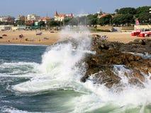 Coast of Foz do Douro in Portugal Stock Photos