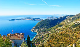 The coast of French Riviera Stock Images