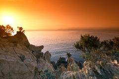 Coast of French riviera Stock Images