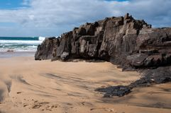 Coast of Fuerteventura Royalty Free Stock Photo