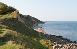 By the coast of Funen. In Helnæs they have a very charming nature, here it is by the coast Stock Photos
