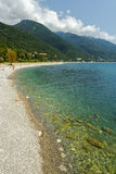 Coast in Gagra stock photography
