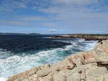 Coast in Galicia. Raving ocean clashing against Spanish coast Stock Image