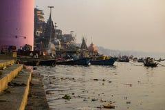 Coast of the gang, Varanasi, India, November royalty free stock images