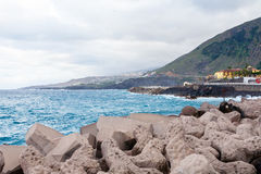 Coast of Garachico. Tenerife, Spain Royalty Free Stock Photography