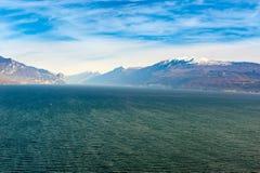 Coast of garda lake, desencano, italy Royalty Free Stock Photos
