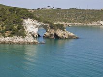 Coast of gargano,apulia,seascape,panorama royalty free stock photography