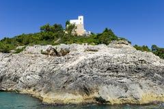 The coast of Gargano National park on Puglia Royalty Free Stock Photo