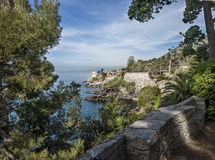 Coast of Genoa Nervi Royalty Free Stock Photo