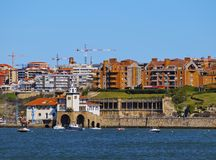 Coast of Getxo Stock Photography