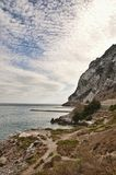 The coast of Gibraltar. This is one side on the coast of Gibraltar Stock Photo