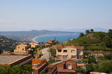 Coast of Girona from Begur Hill at Catalonia Royalty Free Stock Photo