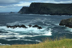 The coast of Glen Head. In Ireland Royalty Free Stock Images