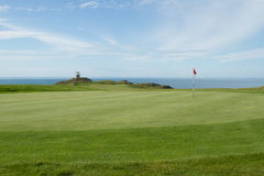 Coast golf green. Royalty Free Stock Photos